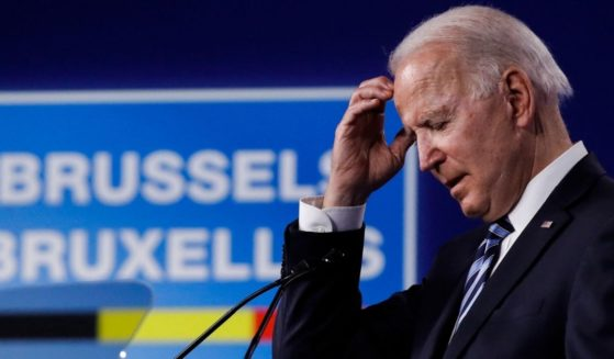President Joe Biden speaks during a press conference after the NATO summit at the North Atlantic Treaty Organization (NATO) headquarters in Brussels, on Monday.