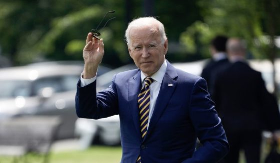 President Joe Biden walks to Marine One as he leaves the White House for a weekend in Delaware after speaking about the nation's COVID-19 response and the vaccination program in the State Dining Room of the White House on June 18 in Washington, D.C.