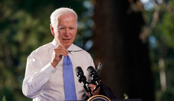 President Joe Biden speaks during a news conference after meeting with Russian President Vladimir Putin on June 16 in Geneva, Switzerland.