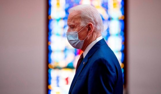 President Joe Biden meets with clergy members and community activists at Bethel AME Church in Wilmington, Delaware, on June 1, 2020.