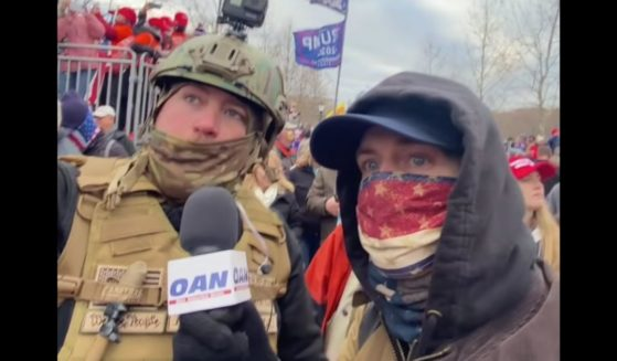 Multiple videos on Scattini's YouTube channel show him and Masterson - disguised as reporters from One America News Network - asking questions to a number of Trump supporters outside the Capitol.