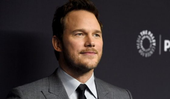 """Chris Pratt arrives at the """"Parks and Recreation"""" 10th anniversary reunion during the 36th annual PaleyFest on March 21, 2019, at the Dolby Theatre in Los Angeles."""