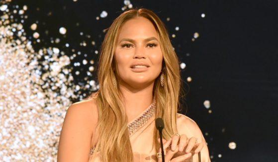 Model Chrissy Teigen attends the 2019 Brandweek Brand Genius Awards Gala on Nov. 4, 2019, in Palm Springs, California.