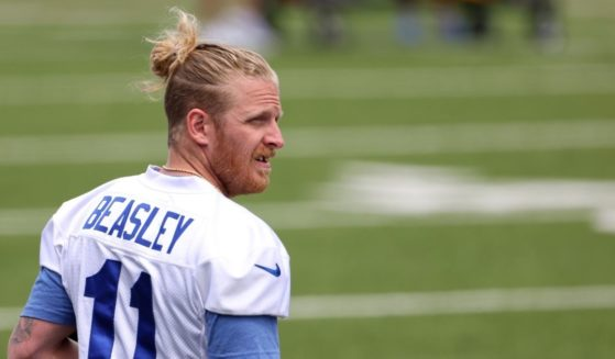 Cole Beasley, #11 of the Buffalo Bills, during OTA workouts at Highmark Stadium on June 2 in Orchard Park, New York.