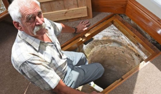 A 70-year-old grandfather in the U.K. made an extraordinary discovery under his living room floor.
