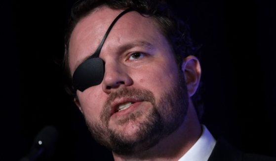 Republican Rep. Dan Crenshaw of Texas speaks at the annual Conservative Political Action Conference at the Gaylord National Resort and Convention Center in National Harbor, Maryland, on Feb. 26,