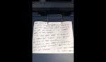 First Officer Chris Dennis wrote a note on Delta Air Lines plane 3009 before it was put into a storage facility in Victorville, California, on March 23, 2020, at the beginning of the pandemic.
