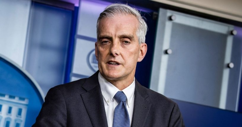 Secretary of Veterans Affairs Denis McDonough speaks during the daily media briefing in the Brady Press Briefing Room at the White House on March 4, 2021, in Washington, D.C.