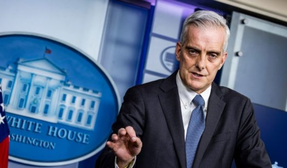 Secretary of Veterans Affairs Denis McDonough speaks during the daily news briefing in the Brady Press Briefing Room at the White House on March 4, 2021 in Washington, D.C.
