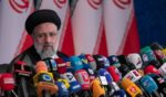 Iranian President-elect Ebrahim Raisi holds a news conference on Monday in Tehran, Iran.