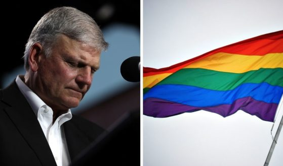 Franklin Graham blasted the Biden Administration in a Facebook post for raising the LGBT flag at the Vatican Embassy.