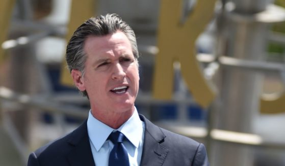 California Gov. Gavin Newsom attends a news conference for the official reopening of the state of California at Universal Studios Hollywood on June 15, 2021 in Universal City, California.