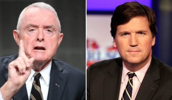 Retired four-star general and current military analyst, Barry McCaffrey, left, asked why Fox News hadn't terminated host Tucker Carlson for his remarks concerning a U.S. general.