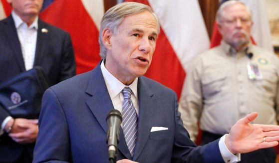 Republican Texas Gov. Greg Abbott speaks during a news conference at the Texas State Capitol in Austin on March 29, 2020.