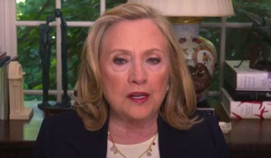 """Hillary Clinton speaks during an appearance on MSNBC's """"Morning Joe"""" on Wednesday."""