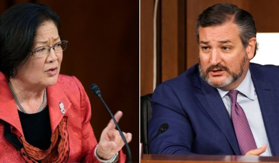 Democratic Sen. Mazie Hirono of Hawaii, left, and Republican Sen. Ted Cruz of Texas speak during a Senate Judiciary Committee hearing on Capitol Hill in Washington on Oct. 14.