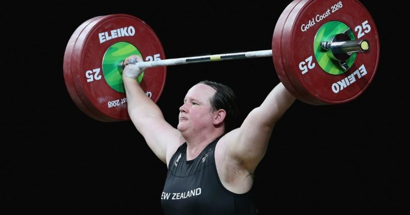 Laurel Hubbard of New Zealand, a man who identifies as a woman, competes in the women's 90kg final of the Gold Coast Commonwealth Games at the Carrara Sports and Leisure Centre in Gold Coast, Australia, on April 9, 2018.