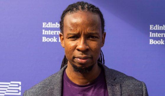 "American author and ""anti-racist"" scholar Ibram X Kendi attends a photo call during Edinburgh International Book Festival 2019 on Aug. 10, 2019, in Edinburgh, Scotland."