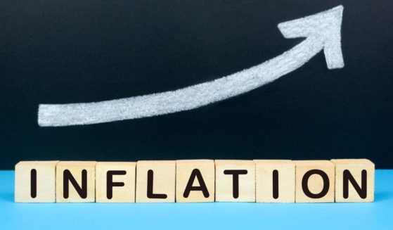 """This stock image portrays a set of blocks spelling out """"inflation,"""" with an arrow pointing up. The Bureau of Labor Statistics reported that the producer price index surged 0.8 percent in May to clock in at a record 6.6 percent inflation rate for the year."""