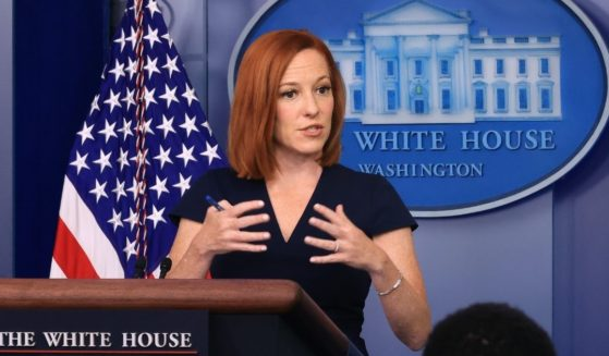 White House press secretary Jen Psaki takes quesitons from reporters during the daily news conference in the Brady Press Briefing Room at the White House on Tuesday in Washington, D.C.