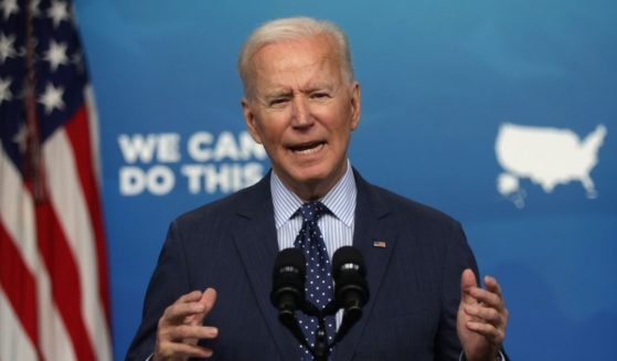 President Joe Biden speaks during an event in the South Court Auditorium of the White House on Wednesday in Washington, D.C.