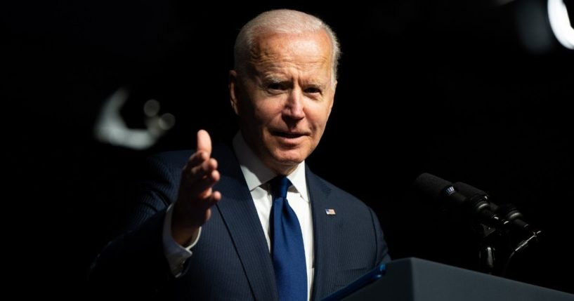 President Joe Biden speaks at a rally during commemorations of the 100th anniversary of the Tulsa Race Massacre on Tuesday in Tulsa, Oklahoma.