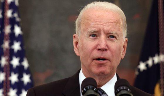 President Joe Biden speaks on gun crime prevention measures at the White House on Wednesday in Washington, D.C.
