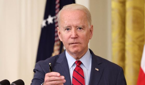 President Joe Biden delivers remarks on the Senate's bipartisan infrastructure deal at the White House on Thursday in Washington, D.C.
