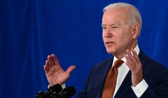 President Joe Biden speaks on Friday in Rehoboth Beach, Delaware.