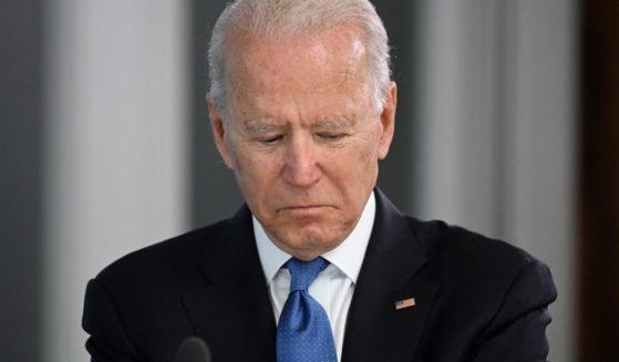 President Joe Biden attends a G-7 summit in Carbis Bay, Cornwall, England, on Friday.