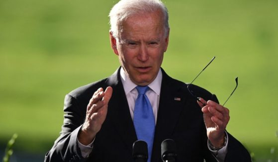 President Joe Biden holds a news conference after a summit in Geneva on Wednesday.