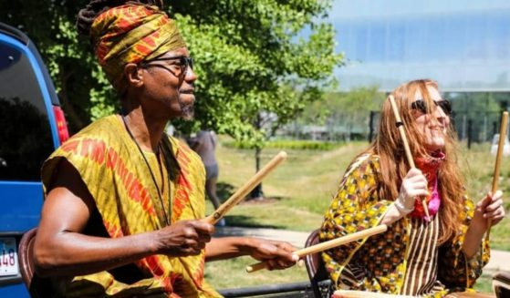 The second annual Juneteenth parade takes place in Evanston, Illinois, on June 19, 2021.