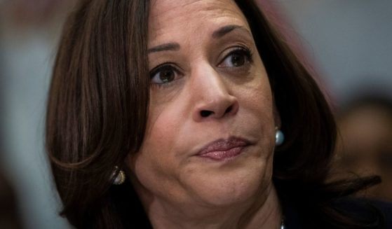 Vice President Kamala Harris meets with Democratic members of the Texas Legislature in the Roosevelt Room of the White House in Washington on Wednesday.