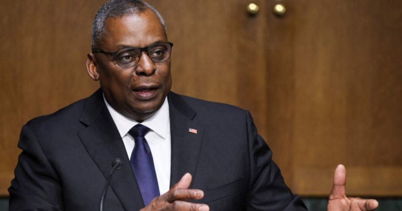 Defense Secretary Lloyd Austin testifies before a Senate Committee on Appropriations hearing on Capitol Hill in Washington, D.C., on Thursday.