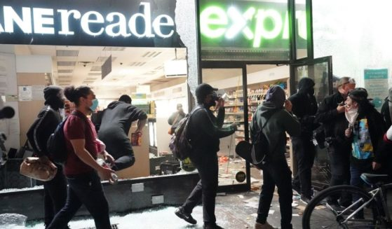 People loot a store during demonstrations over the death of George Floyd by a Minneapolis police officer on June 1, 2020, in New York.