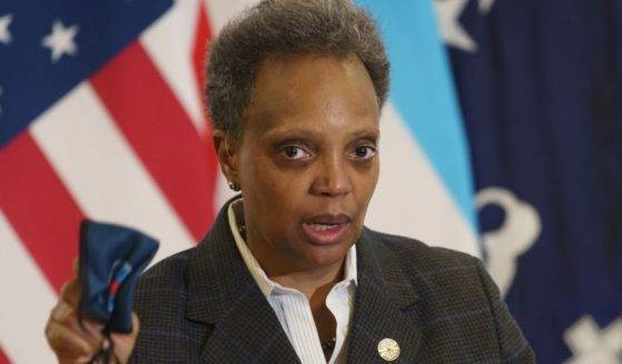 Mayor Lori Lightfoot speaks about COVID-19 vaccinations at Norwegian American Hospital in Chicago on Jan. 5.