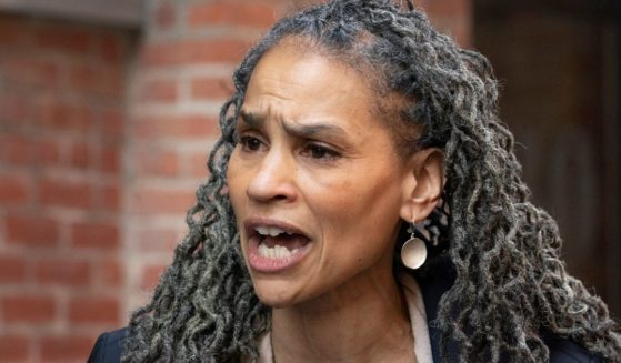 New York Democratic mayoral candidate Maya Wiley holds a news conference March 11 in the Dumbo neighborhood of the city's Brooklyn borough.