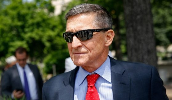 Michael Flynn, then-President Donald Trump's former national security advisor, departs a federal courthouse after a hearing on June 24, 2019, in Washington, D.C.