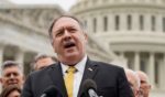Former Secretary of State Mike Pompeo speaks to the media with members of the Republican Study Committee about Iran on April 21, 2021, in Washington, D.C.