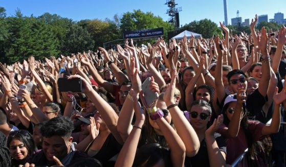 A large crowd attends the Global Citizen Festival in New York City's Central Park on Sept. 24, 2016.