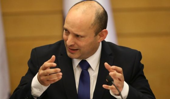 Israel's new prime minister Naftali Bennett holds a first cabinet meeting in Jerusalem on Sunday.