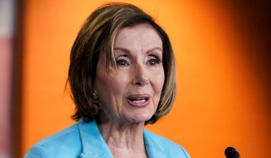Speaker of the House Nancy Pelosi speaks during her weekly news conference on Capitol Hill in Washington on Thursday.