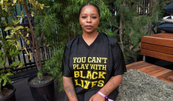 Patrisse Cullors poses for a photo on day three of Summit LA18 in Los Angeles on Nov. 4, 2018.