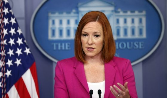 White House press secretary Jen Psaki holds a briefing at the White House on Tuesday in Washington, D.C.