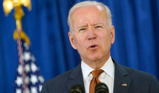 President Joe Biden speaks from the Rehoboth Beach Convention Center in Rehoboth Beach, Delaware, on Friday.