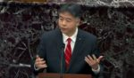 Democratic California Rep. Ted Lieu on the third day of former President Donald Trump's second impeachment trial at the U.S. Capitol on Feb. 11 in Washington, D.C.