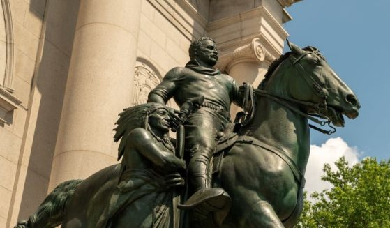 The Equestrian Statue of Theodore Roosevelt is pictured on June 28, 2020, in New York City.