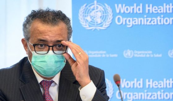 Tedros Adhanom Ghebreyesus, the director-general of the World Health Organization, speaks at the WHO headquarters in Geneva on May 24, 2021.