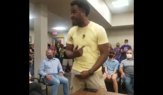 Ty Smith talks about Critical Race Theory at an Illinois school board meeting.