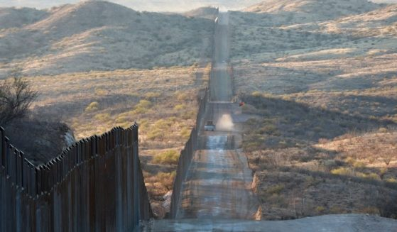 Construction continues along the border wall with Mexico championed by U.S. President Donald Trump on Jan. 12, 2021, in Sasabe, Arizona.
